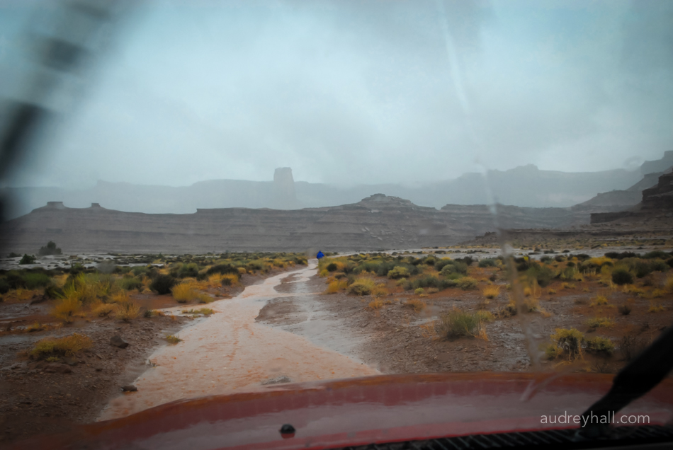 The rain begins and with it comes flash floods, falling boulders and washed out roads.